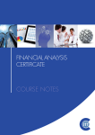 Financial Analysis Certificate