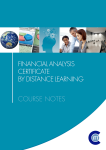 Financial Analysis Certificate by Distance Learning