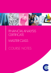 Financial Analysis Certificate Master Classes