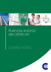 Financial Analysis VBA Certificate