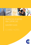 Financial Analysis VBA Certificate Master Classes