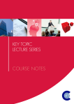Key Topic Lecture Series